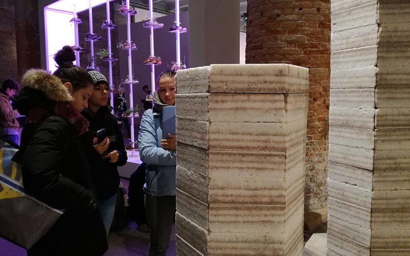 Ragazzi in visita alle Biennale 2017